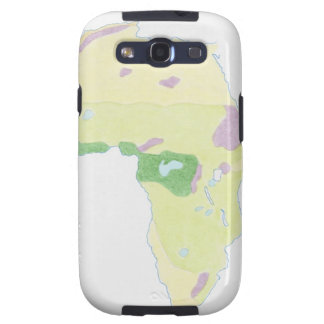 Illustration of simple outline map showing samsung galaxy s3 case