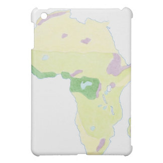 Illustration of simple outline map showing iPad mini cover