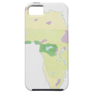 Illustration of simple outline map showing tough iPhone 5 case