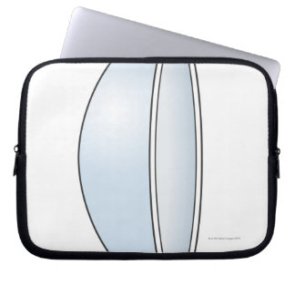 Illustration of Soft Contact Lens Laptop Sleeve