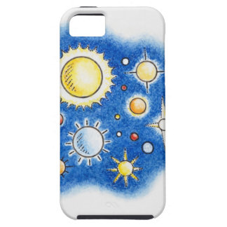 Illustration of solar system case for the iPhone 5