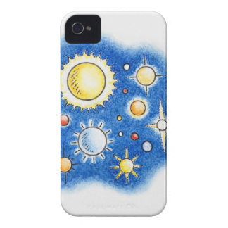 Illustration of solar system iPhone 4 Case-Mate case