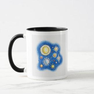 Illustration of solar system mug