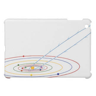 Illustration of solar system with path of iPad mini cases