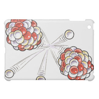 Illustration of split atoms and neutrons iPad mini cover