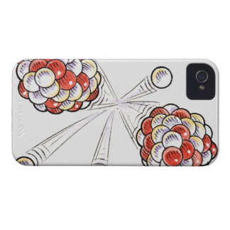 Illustration of split atoms and neutrons iPhone 4 case