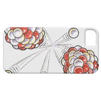 Illustration of split atoms and neutrons iPhone 5 cases
