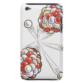 Illustration of split atoms and neutrons iPod touch cover