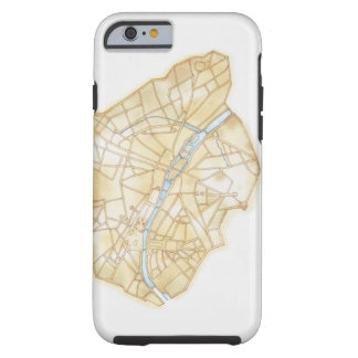 Illustration of streets of Paris during 1789 Tough iPhone 6 Case