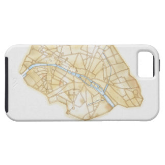 Illustration of streets of Paris during 1789 iPhone 5 Case