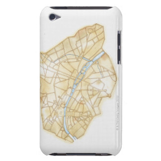 Illustration of streets of Paris during 1789 iPod Case-Mate Cases