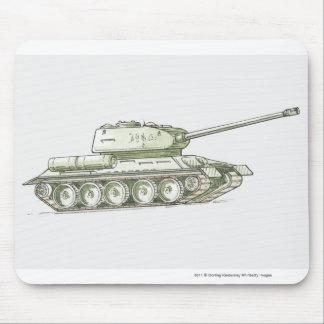 Illustration of tank mouse mat