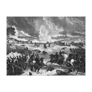 Illustration of the Battle of Gettysburg Canvas Print