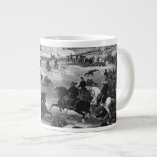 Illustration of the Battle of Gettysburg Large Coffee Mug
