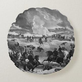 Illustration of the Battle of Gettysburg Round Cushion