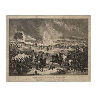 Illustration of the Battle of Gettysburg Wood Print