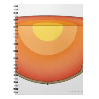 Illustration of the Earth's interior showing the Spiral Notebook