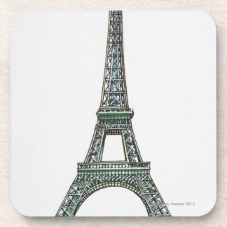 Illustration of the Eiffel Tower Beverage Coasters