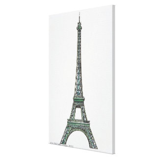 Illustration of the Eiffel Tower Canvas Print