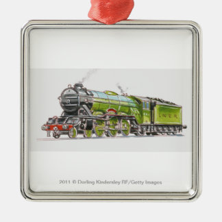 Illustration of the Flying Scotsman train Christmas Ornament