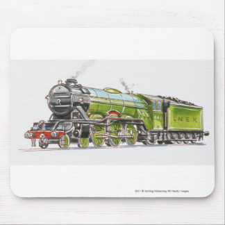 Illustration of the Flying Scotsman train Mouse Mat
