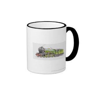 Illustration of the Flying Scotsman train Ringer Mug
