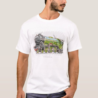 Illustration of the Flying Scotsman train T-Shirt