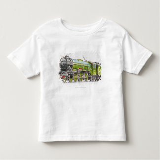 Illustration of the Flying Scotsman train Toddler T-Shirt