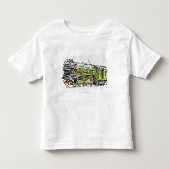 Illustration of the Flying Scotsman train Toddler T-Shirt