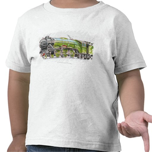 Illustration of the Flying Scotsman train Tees