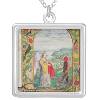 Illustration of the fourth parable silver plated necklace