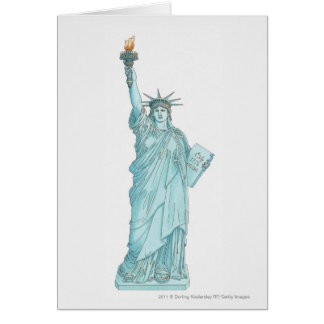 Illustration of the Statue of Liberty Card