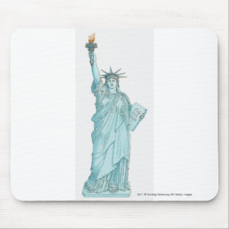 Illustration of the Statue of Liberty Mouse Mat