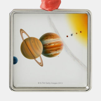 Illustration of the Sun, Mercury, Venus moon Christmas Ornament