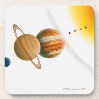 Illustration of the Sun, Mercury, Venus moon Coaster