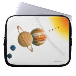 Illustration of the Sun, Mercury, Venus moon Laptop Sleeve