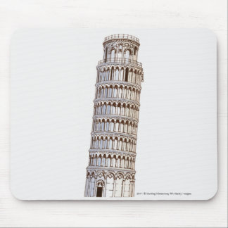 Illustration of the Tower of Pisa Mouse Pad