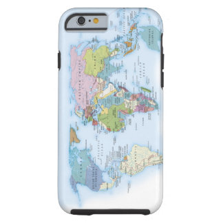 illustration of the world in 1900 tough iPhone 6 case