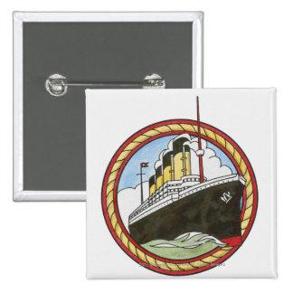 Illustration of Titanic 15 Cm Square Badge