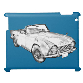 Illustration Of Triumph Tr4 Sports Car Case For The iPad