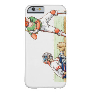 Illustration of two baseball players barely there iPhone 6 case