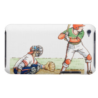Illustration of two baseball players Case-Mate iPod touch case