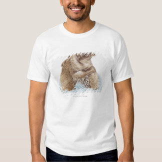 Illustration of two Brown Bears fighting in water Shirt