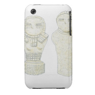 Illustration of unfired clay figurines, Range iPhone 3 Cases