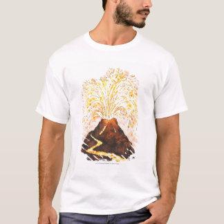 Illustration of volcano erupting T-Shirt
