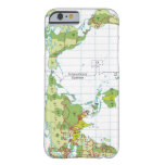 illustration of world map showing time barely there iPhone 6 case
