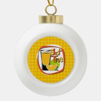 "Illustration Shot with lemon ""Shot Time"" Ceramic Ball Decoration"