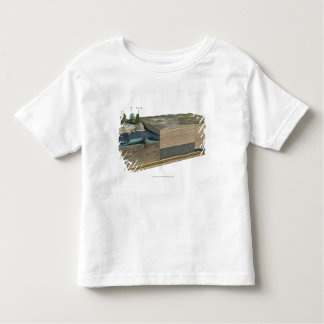Illustration showing formation of coal toddler T-Shirt