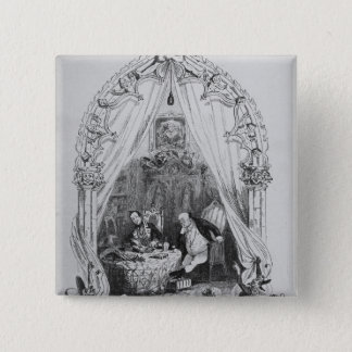 Illustration `The Pickwick Papers' by Charles 15 Cm Square Badge
