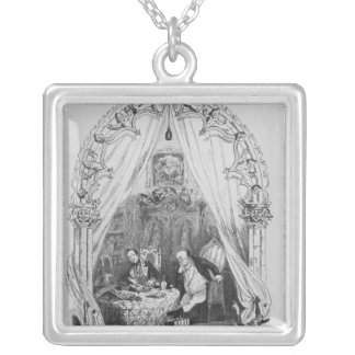 Illustration `The Pickwick Papers' by Charles Silver Plated Necklace